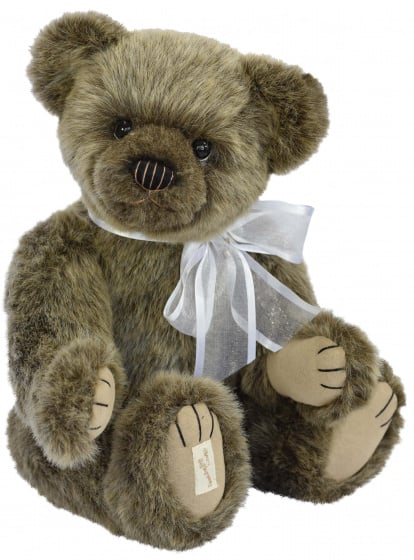 clemens knuffel teddybeer gressingham 40 cm acryl donkerbruin 450258 1597917415