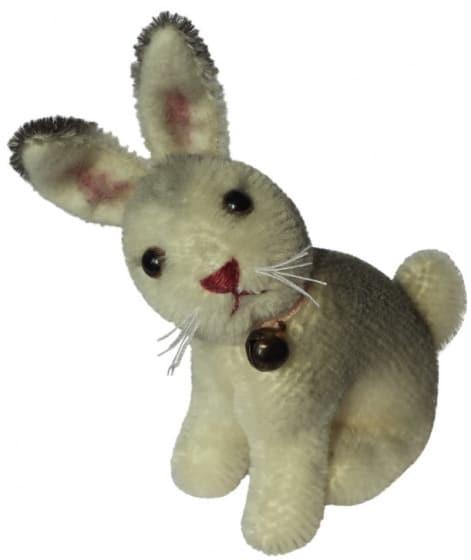 clemens knuffelkonijn miniatuur ailis 9cm pluche grijs wit 449908 1597841031