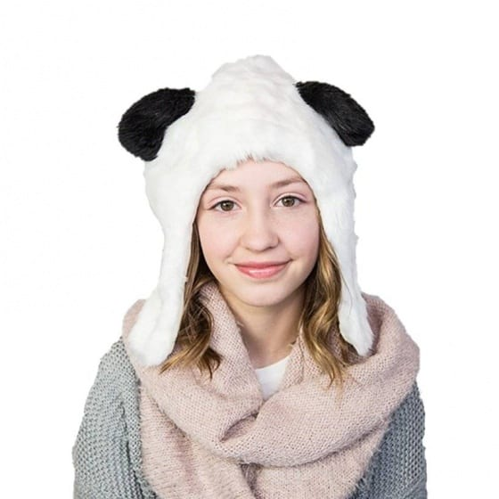 eskimo kids muts pandabeer unisex grijs bruin 2 348693 1578040592 1