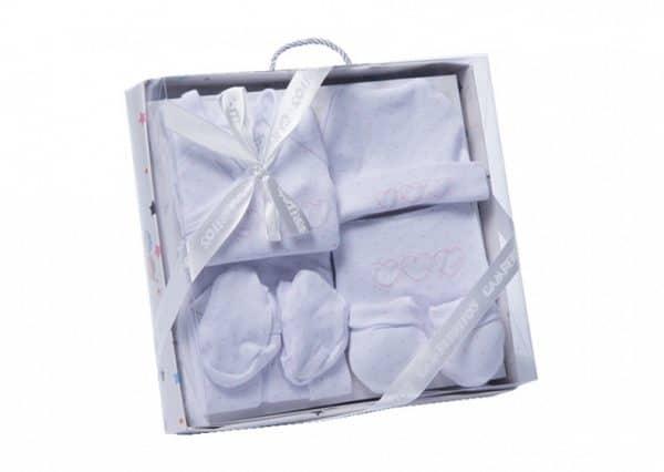 gamberritos babykledingset hartjes wit roze one size 6 delig 359842 1580826974