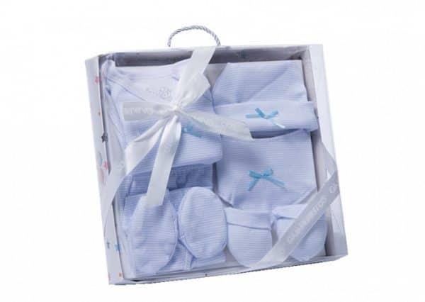gamberritos babykledingset strikje wit blauw one size 6 delig 359830 1580826241