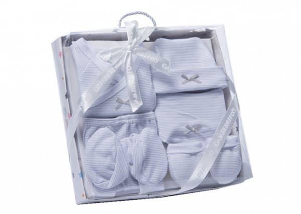 gamberritos babykledingset strikje wit grijs one size 6 delig 359832 1580826340