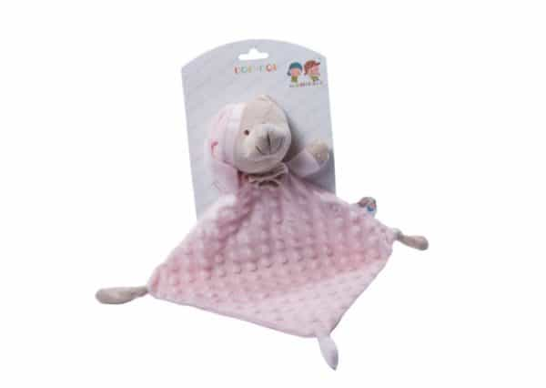 gamberritos knuffeldoekje beertje 23 cm roze 353928 1579276819