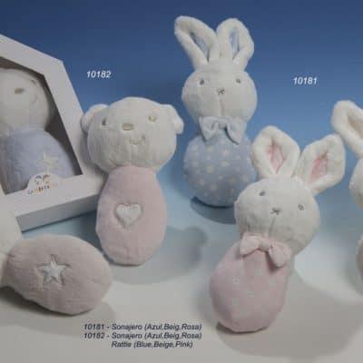 gamberritos rammelaar konijn 23 cm stippen pluche blauw 2 365256 1582710869 2