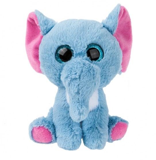 gosh designs pluchen knuffel olifant 22 cm blauw 249812