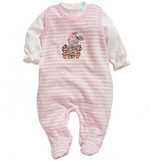 playshoes babypyjama olifant meisjes roze wit 338712 1574772875 2