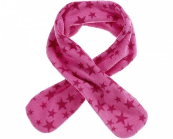 playshoes fleece sjaal met lus roze met sterren junior 82 cm 336036 1574084232