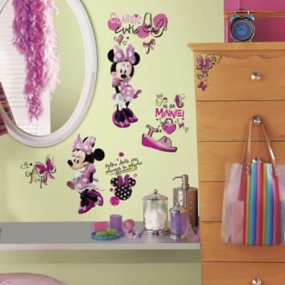 roommates muurstickers minnie mouse fashionista vinyl 19 stuks 2 349473 1578317110 2