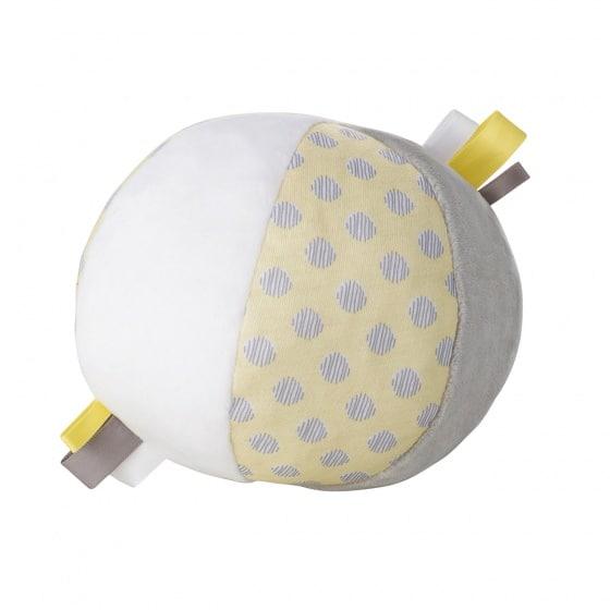 saro zachte bal met rammelaar junior geel 11 cm 346546 1577181770