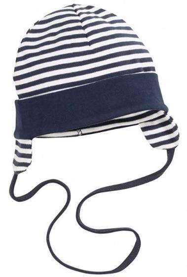 schnizler babymuts met oorkleppen katoen blauw wit mt 43 cm 355009 1579614036 1