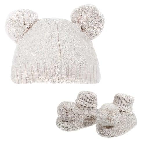 soft touch babymuts en sokjes pompom junior polyester creme 470589 1601707442