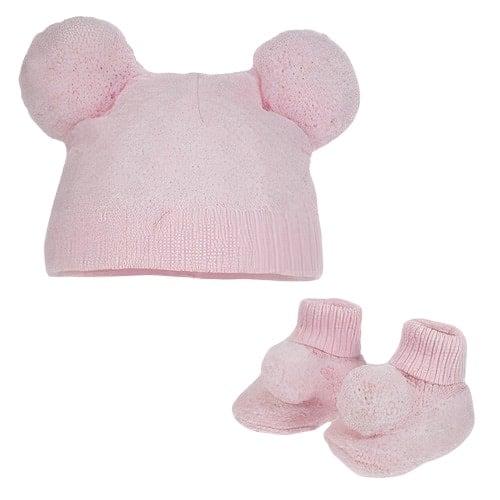soft touch babymuts en sokjes pompom meisjes polyester roze 470592 1601707611