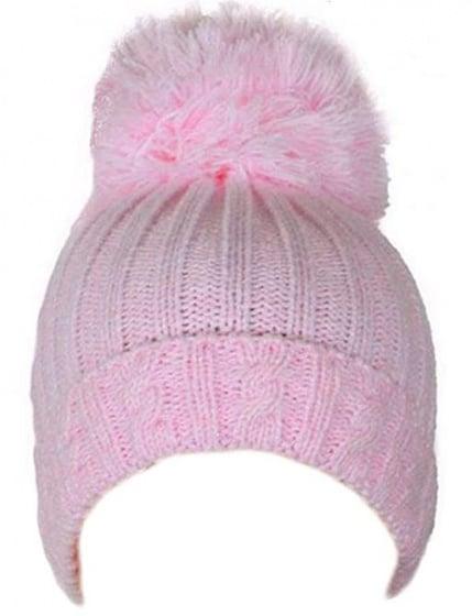 soft touch babymuts pompom meisjes acryl roze 472908 1602139536