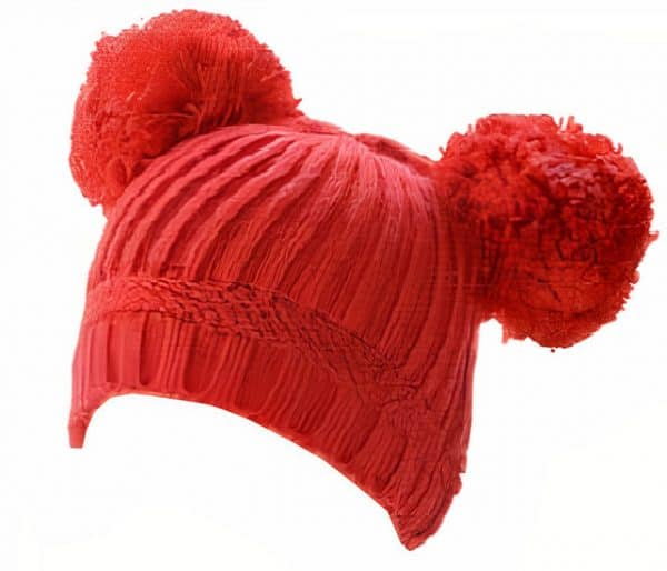 soft touch babymuts pompoms junior acryl rood 470928 1601723995