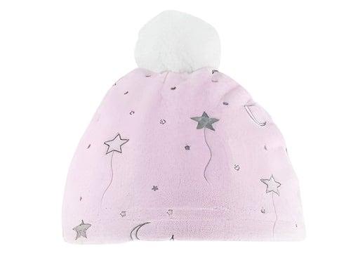 soft touch babymutsje moon print meisjes polyester roze 470837 1601717946