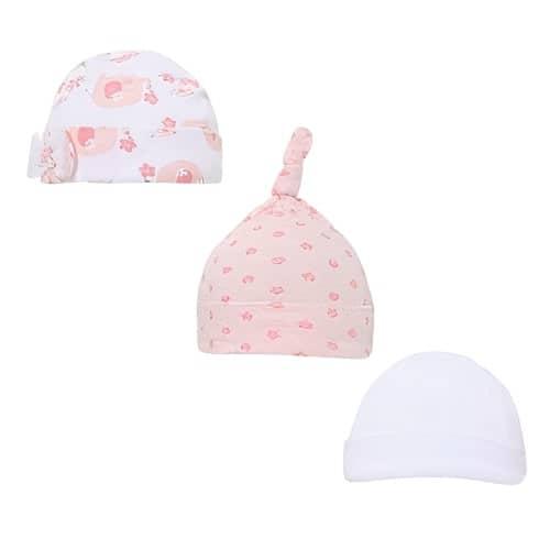 soft touch babymutsjes katoen meisjes roze wit 3 stuks 470716 1601712448