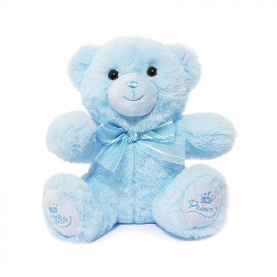 soft touch teddybeer little prince jongens 15 cm polyester blauw 429717 1594122049