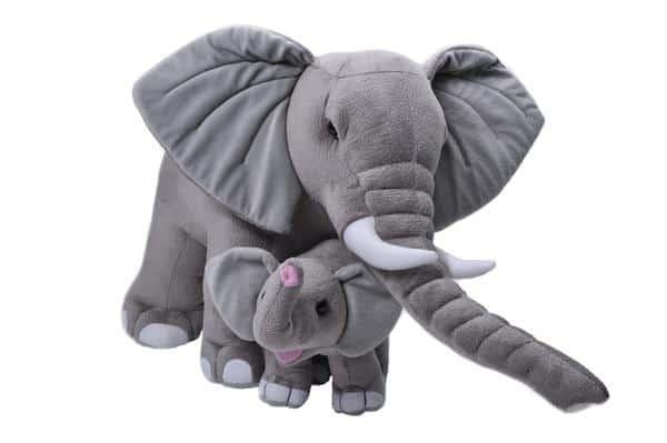 wild republic knuffel mama baby olifant 76 cm pluche grijs 399613 1589553914