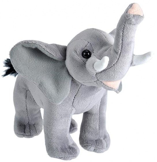 wild republic knuffel olifant 20 cm pluche grijs 399271 1589535745