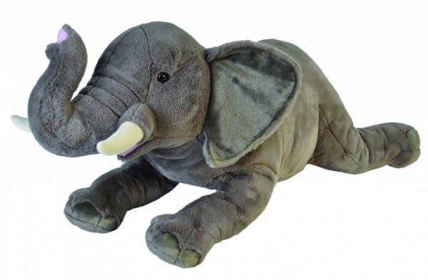 wild republic knuffel olifant junior 76 cm pluche grijs wit 435165 1594907918