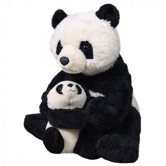wild republic panda mama baby 30 cm zwart wit 398985 20200515083311