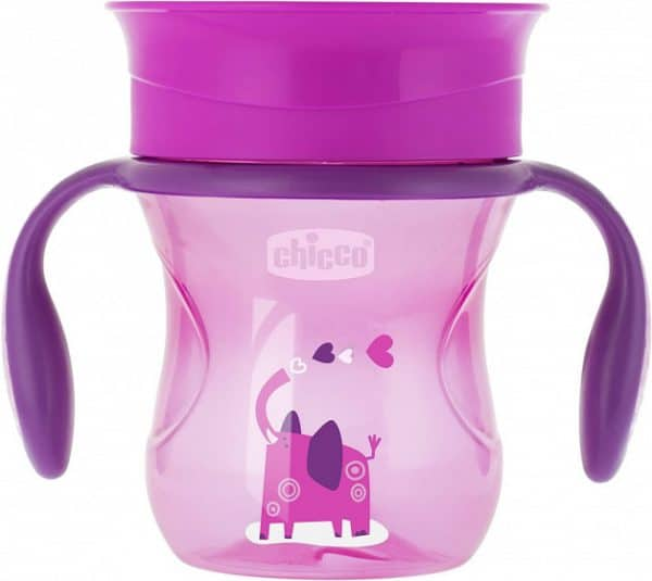 chicco drinkbeker perfect meisjes 200 ml siliconen roze 431053 1594296438