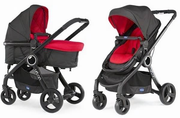 chicco kinderwagen 3 in 1 urban plus aluminium rood zwart 2 442797 1596275084