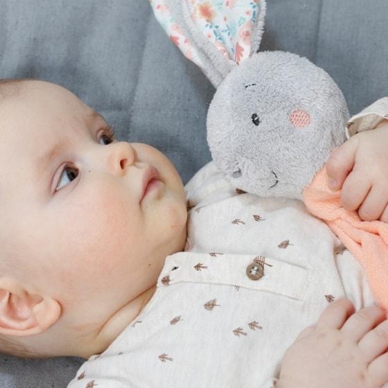 fehn knuffeldoekje konijn 40 cm zalmroze 6 312658 1566554195
