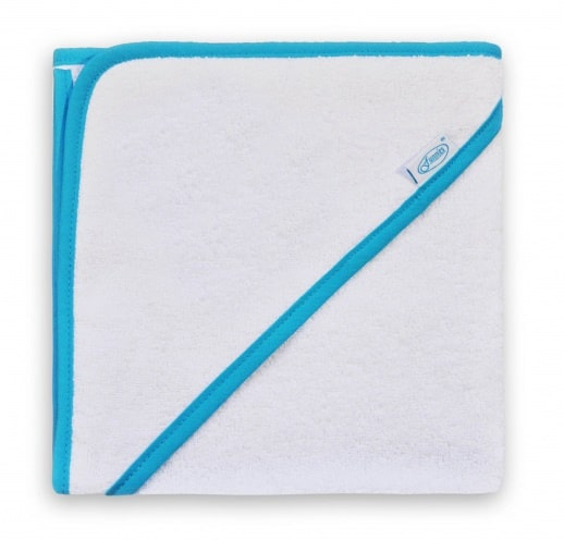 funnies badcape junior 80 cm katoen wit blauw 448841 20200817144002
