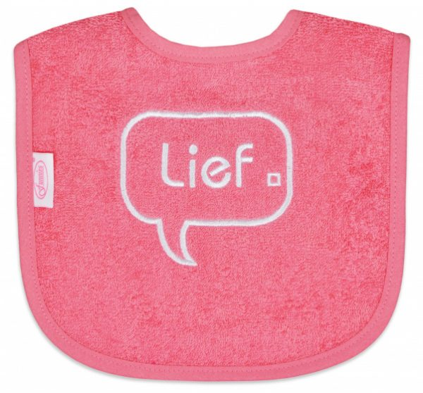 funnies slabber lief junior 40 cm katoen roze 451403 1598086036