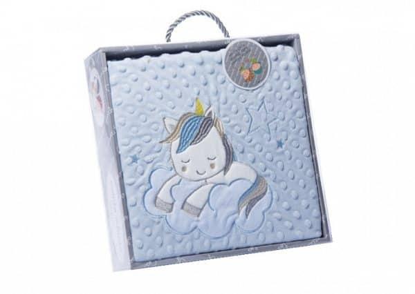gamberritos babydeken unicorn 80 x 110 cm fleece blauw 354279 1579506123 1