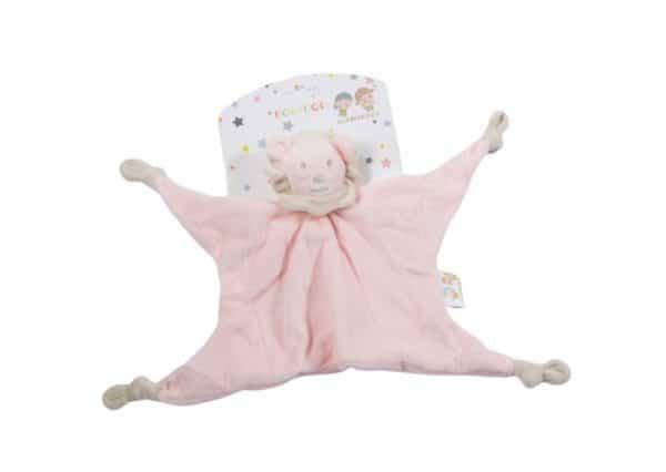 gamberritos knuffeldoekje 23 cm leeuw roze 361650 1581321238