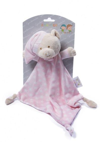 gamberritos knuffeldoekje beer 23 cm sterren roze 354658 1579593477