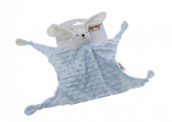 gamberritos knuffeldoekje stippen konijn 23 cm blauw 386219 1587453457