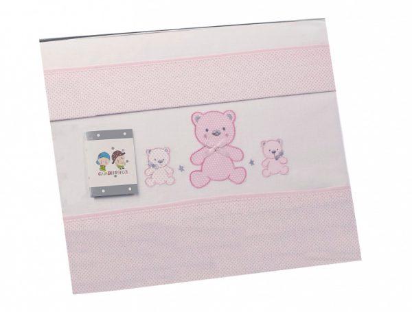 gamberritos laken set kinderwagen roze beren 3 delig 384113 1587032764