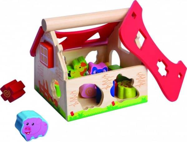 gerardos toys boerderijhuis motoriekspel hout rood bruin 2 416787 1592035877