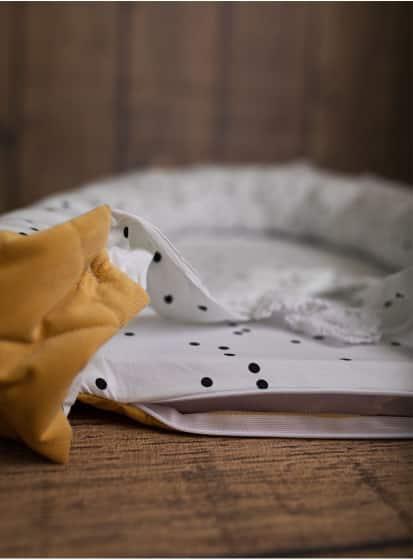 kinderhop babynest triangles fluweel katoen geel wit 2 464021 1600706176