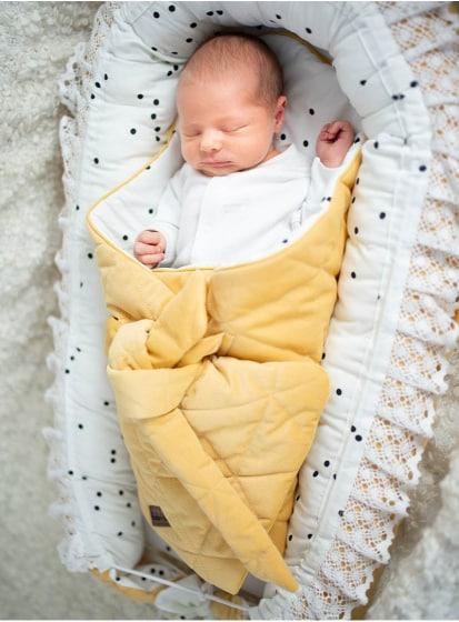kinderhop babynest triangles fluweel katoen geel wit 6 464021 1600706177