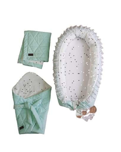 kinderhop cadeauset babys mintgroen wit katoen 3 delig 463486 1600671112