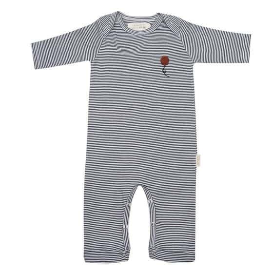little indians jumpsuit stripe junior katoen grijs zwart mt 74 452401 20200831125933