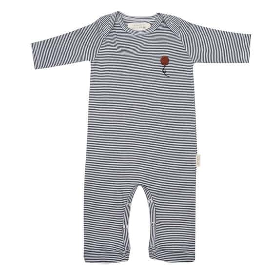 little indians jumpsuit stripe junior katoen grijs zwart mt 80 452402 20200831130028