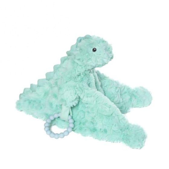 manhattan toy knuffeldeken chomp junior 12 cm pluche turquoise 425371 1593417202