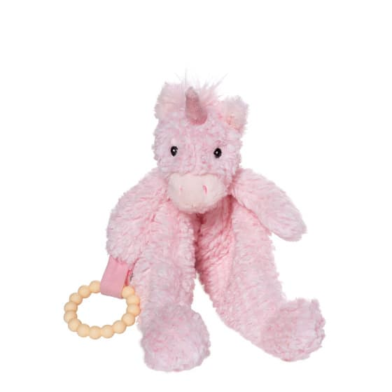 manhattan toy speelgoed petals unicorn blankie pluche roze 423899 1593010652