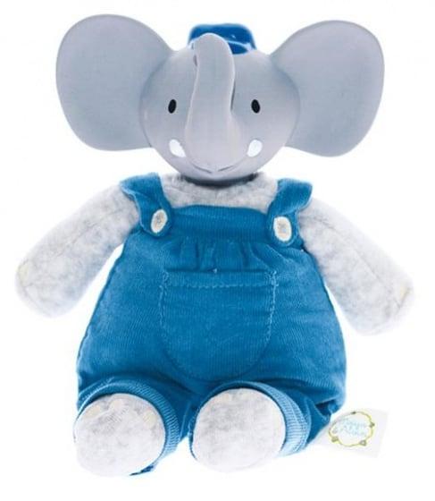 mertex alvin de olifant knijp en bijtknuffel 19 cm grijs blauw 204573