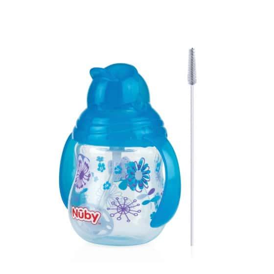 nuby designer series antilekbeker met 360 rietje 270ml blauw 381911 1586762126