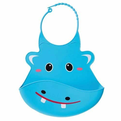 nuby slabbetje 3d dierendesigns nijlpaard siliconen 28 cm blauw 419952 1592467927