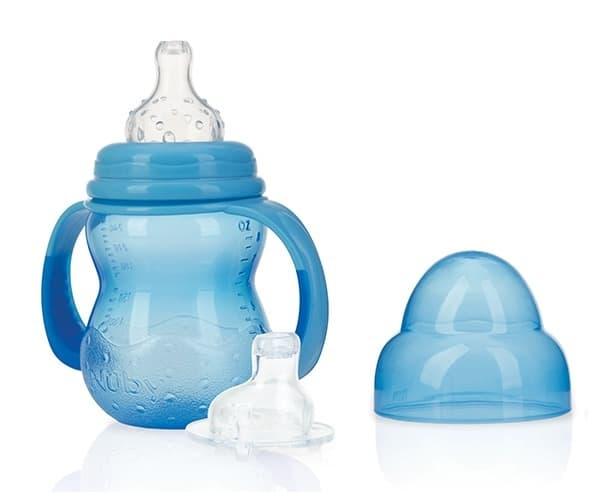 nuby trainingsfles anti lek 240 ml blauw 369762 1584027713