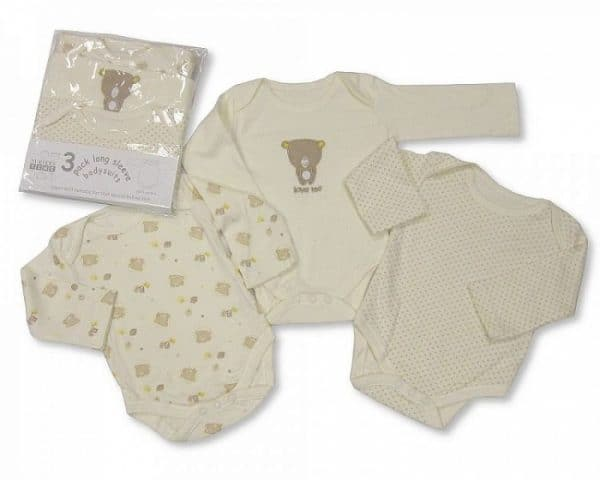 nursery time romper beer lange mouw beige 3 stuks 365955 1582886978 3