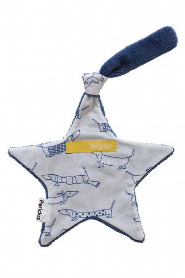 pericles speendoekje hond 22 cm blauw 337750 1574431471