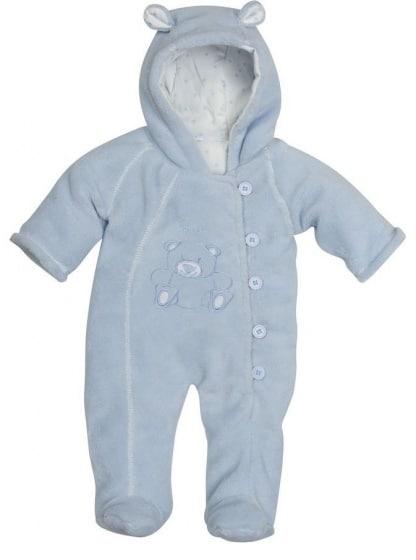 playshoes babypyjama jumpsuit fleece junior blauw 336238 1574149726